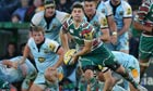 Ben Youngs in action, Leicester v Northampton