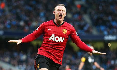 Wayne Rooney celebrates a goal