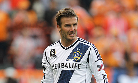 David Beckham en acción para LA Galaxy