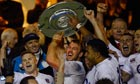 England's captain Chris Robshaw lifts the Sir Edmund Hillary shield