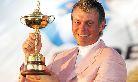 Darren Clarke poses with the Ryder Cup