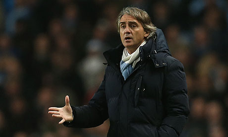 Roberto Mancini Manchester City v Reading 
