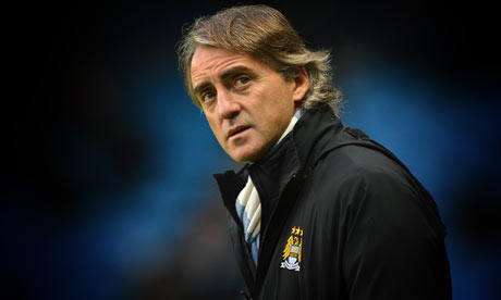 Manchester City's manager Roberto Mancini