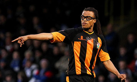 Edgar Davids in action for Barnet during their recent win against League Two leaders Gillingham