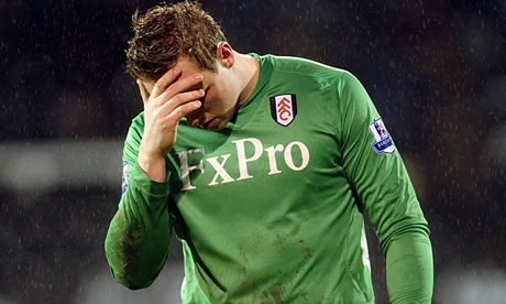 Fulham's goalkeeper David Stockdale