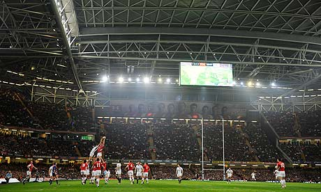 Wales v England at the Millennium Stadium