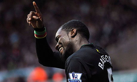 Sbastien Bassong, the Norwich defender, was the victim of a racist gesture from a Seansea fan