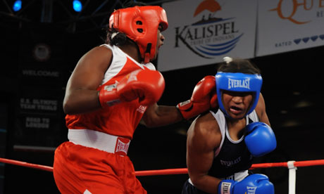 Claressa Shields in action at US Women's Olympic Boxing Trials in Spokane