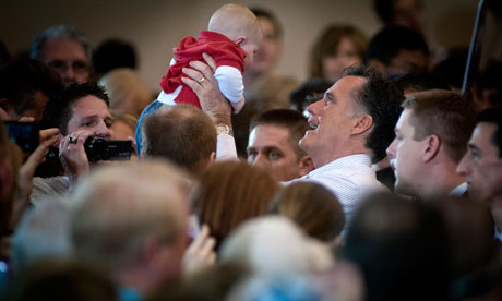 Mitt Romney campaigning in Chandler, Arizona