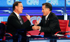 Santorum, Romney, GOP debate