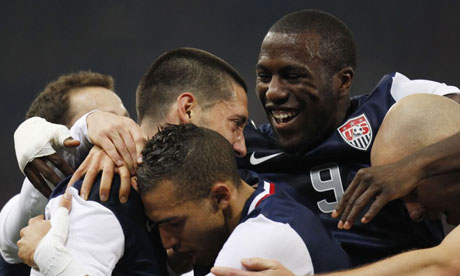 Clint Dempsey celebrates USA goal vs. Italy