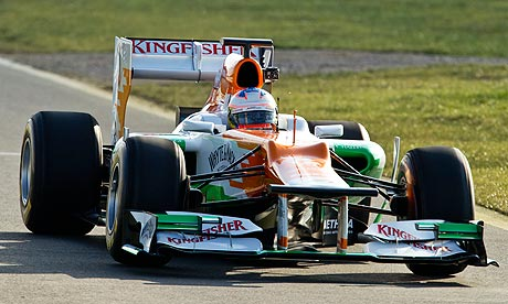 Equipe Force India de Formula 1 de 2012 by guardian.co.uk