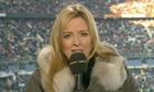 Gabby Logan at France v Italy
