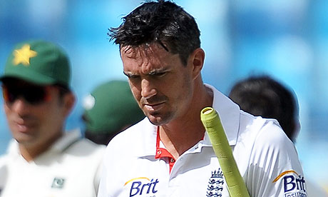 England's cricketer Kevin Pietersen walks