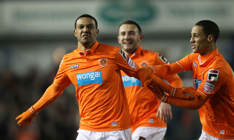 Blackpool's Matt Phillips celebrates