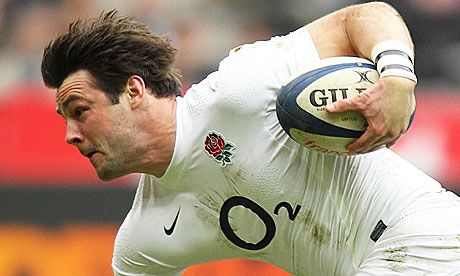 Ben Foden scores a try for England