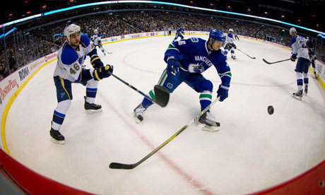 St. Louis Blues' Roman Polak vs. Vancouver Canucks' Jannik Hansen