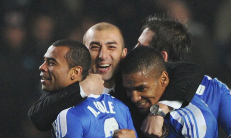 Ashley Cole, Roberto Di Matteo, Florent Malouda, & Frank Lampard, 14 March 2012