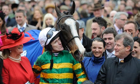 Tony McCoy gives a kiss to Synchronised after winning the 2012 Cheltenham Gold Cup