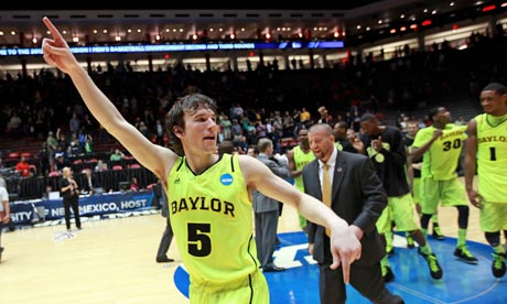 Baylor University's Brady Heslip. March Madness