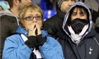 Distraught fans at White Hart Lane