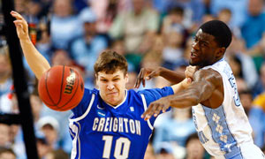 Creighton's Grant Gibbs vs North Carolina Reggie Bullock. March Madness