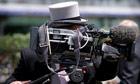 A cameraman at Royal Ascot
