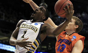 Marquette Golden Eagles' Darius Johnson-Odom vs. Florida Gators' Erik Murphy