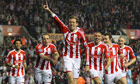 Peter Crouch celebrates his sp