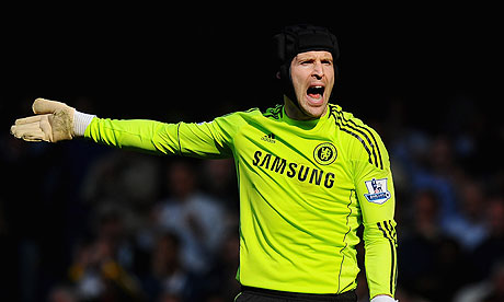Chelsea's goalkeeper Petr Cech