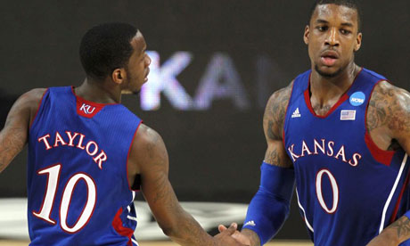 Kansas Jayhawks Thomas Robinson and Tyshawn Taylor