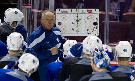 Toronto Maple Leafs Head Coach Randy Carlyle