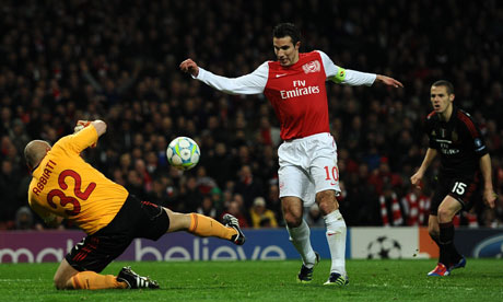 Arsenal FC v AC Milan - UEFA Champions League Round of 16
