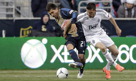 Michael Farfan, Philadelphia Union, and Sebastien Le Toux, Vancouver Whitecaps