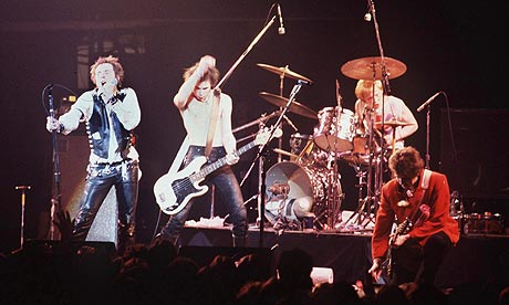 The Sex Pistols performing in 1978. Photograph: Rex Features