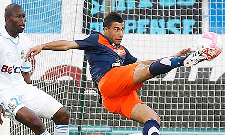 Did Montpelliers Younes Belhanda score the goal of the season in France v Marseille?