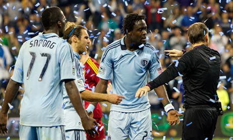 Sporting Kansas City's CJ Sapong, Graham Zusi and Kei Kamara