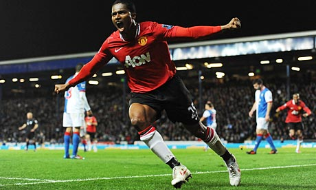 Antonio Valencia scores for Manchester United