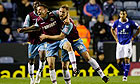 Jack Colison, right, celebrates with Matthew Taylor after scoring West Ham's winning goal