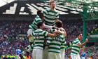 Celtic players celebrate 
