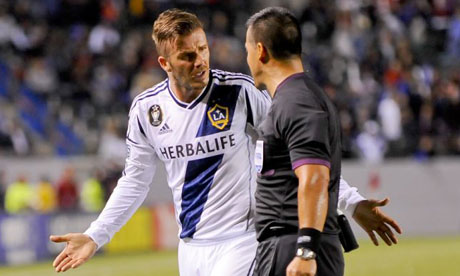 David Beckham and MLS referee