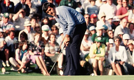 Seve Ballesteros in action at the 1983 Masters