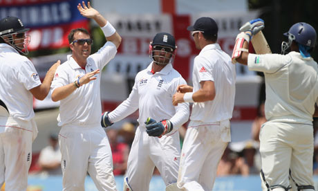 Sri Lanka v England. Graeme Swann celebrates taking the wicket of ...