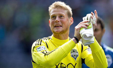 Seattle Sounders goalie Bryan Meredith