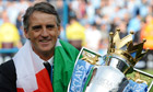 The Manchester City manager, Roberto Mancini,