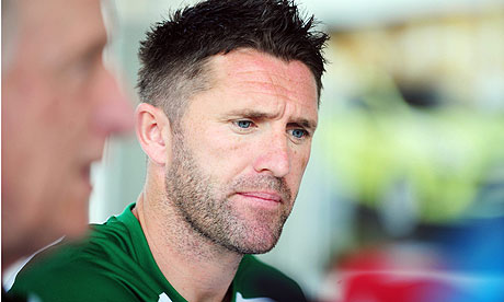 Republic of Ireland captain Robbie Keane in Dublin