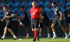 England's manager Roy Hodgson during a training session in Oslo