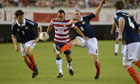 Landon Donovan scored a hat-trick for the USA in their 5-1 win over Scotland