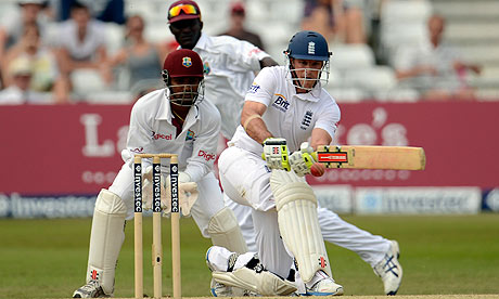 England's captain Andrew Strauss against the West Indies at Trent Bridge