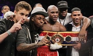 Floyd Mayweather Jr. and Justin Bieber